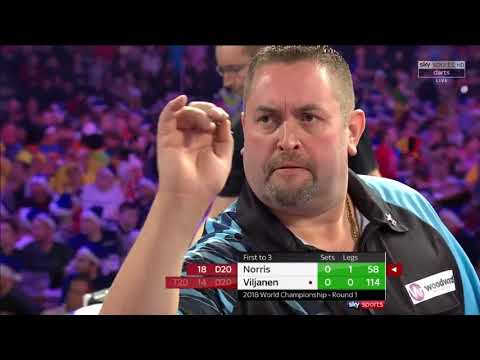 Norris vs Viljanen.World Darts Championship. Set 1.