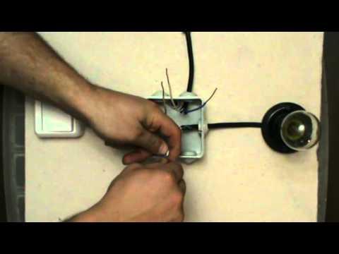 Соединение проводов в коробке для одноклавишного выкл