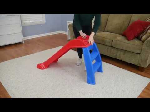 Little Tikes First Slide (Red/Blue) - Indoor / Outdoor Toddler Climbing Toy