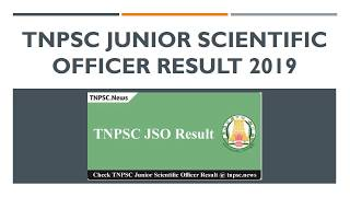 TNPSC Junior Scientific Officer Result 2019 for 64 JSO Examination here