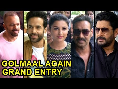 Golmaal Again Stars GRAND ENTRY At Trailer Launch Event  Ajay Devgn, Parineeti Chopra, Tushar Kapoor