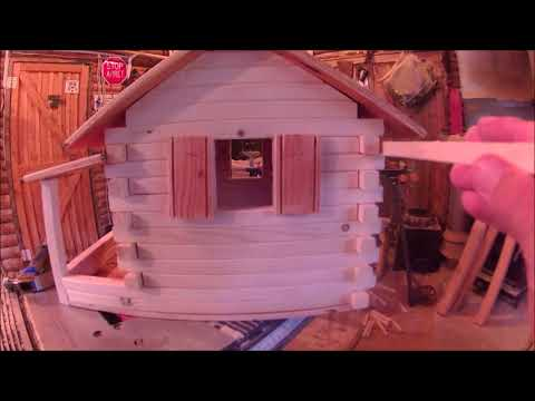 DIY Log Cabin Bird Feeder Part 2//////Give away
