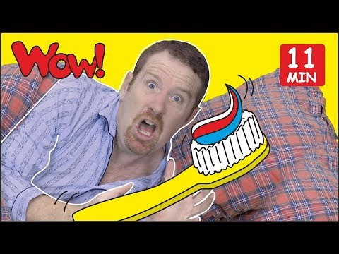 Brush Your Teeth Song For Kids + MORE Stories From Steve And Maggie | Free Speaking Wow English TV
