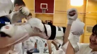 Защита от Маваси гери в Кёкусинкай Карате Центр спортивной подготовки Тэнгу Про Мурманск