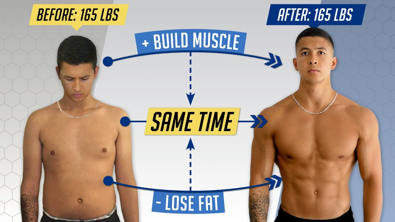 How to Lose Fat AND Gain Muscle at the Same Time (3 Simple Steps)