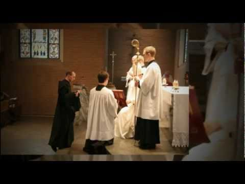 Brother Andrew Spivey makes his final profession of vows at Belmont Abbey