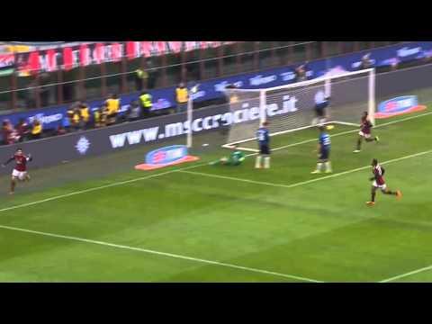 Kaka score his 100 th goal for AC Milan vs Atalanta 1-0 (Serie A 2014)