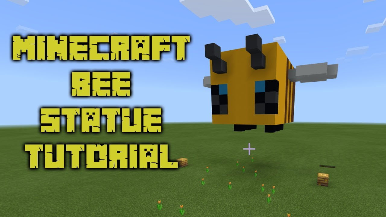 BEE Creative With This Minecraft Bee Statue Tutorial Bedrock YouTube