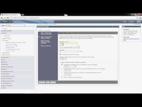Creating cluster environment in WebSphere Application Server v 8 5 on windows  (WebSphere Jungle)