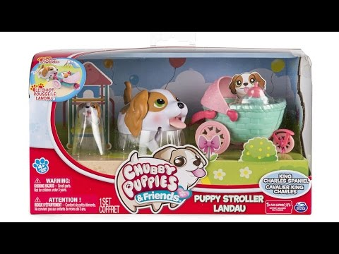 Chubby Puppies and Friends Puppy Stroller Set with Baby Unboxing Review