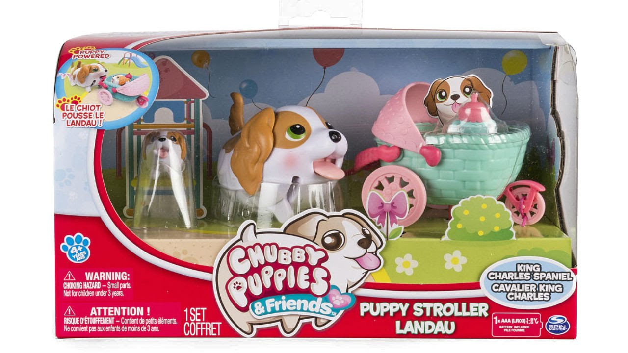 Chubby Puppies And Friends Puppy Stroller Set With Baby Unboxing