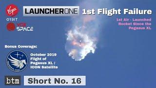 LauncherOne 1st Flight Failure | Virgin Orbit / VOX Space | Two Days Before Historic SpaceX Flight