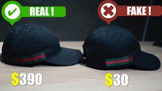 Authentic Vs Replica Gucci GG Canvas Cap - How To Spot A Fake Gucci Hat