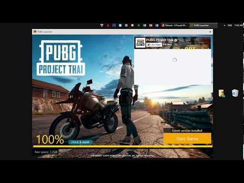 Hướng dẫn download và đăng kí tài khoản PUBG Project Thai
