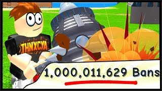 OVER 1 BILLION PLAYERS BANNED! | Roblox Ban Hammer Simulator