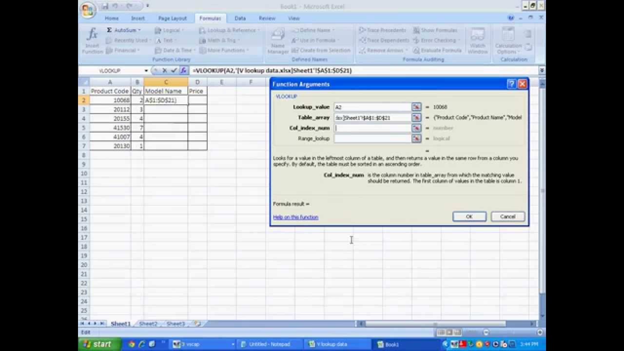 Vlookup In Excel Step By Step Guide Youtube