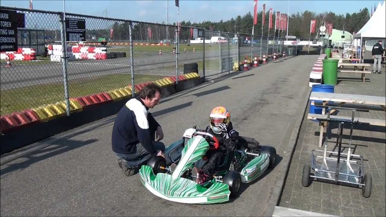 Rick Karten Op Circuit Berghem Shakedown Nieuwe Tony Kart Youtube
