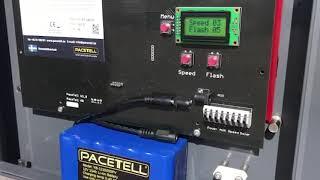 Inställningar Pacetell Hastighetsdisplay