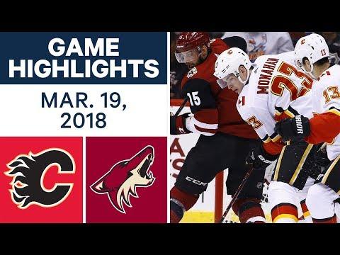 NHL Game Highlights | Flames vs. Coyotes - Mar. 19, 2018