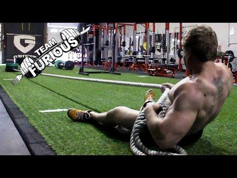Fun Strongman Workout (Tires, Farmer's Walk, Rope Pulls) | Furious Pete
