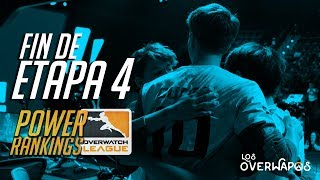 Power rankings fin de etapa 4  - overwatch league