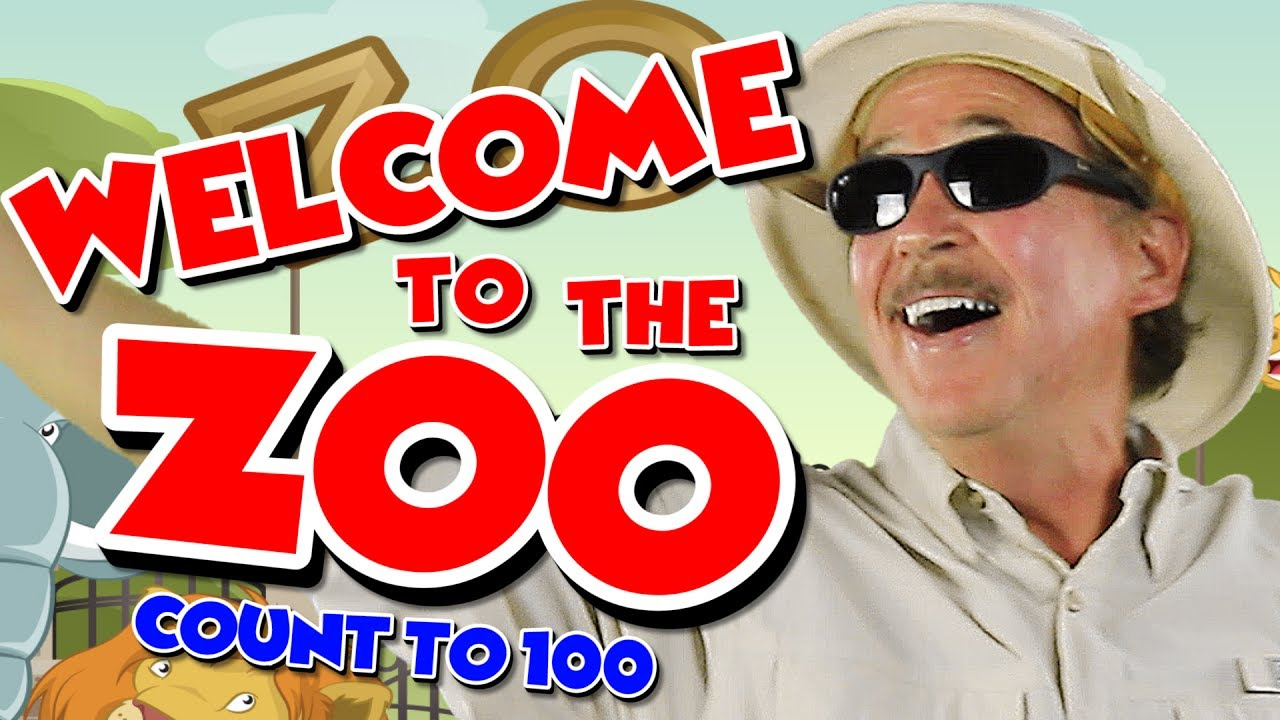 Welcome To The Zoo Count To 100 Counting By 1s Counting Song For Kids Jack Hartmann