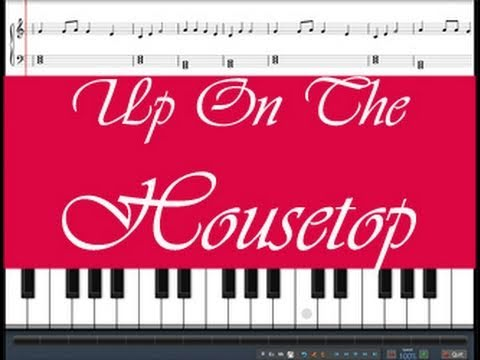 Up On The Housetop, learn this song, free sheet music provided ...