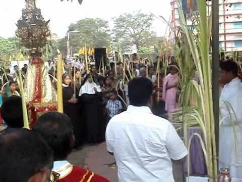 ST. FRANCIS XAVIER CHURCH ALUVA  (HOSANNA SUNDAY 2012) Video By HYGNES JOY PAVANA.