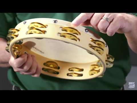 Grover Pro Sound Values Tambourine 10 in. Dimpled Brass Jingles