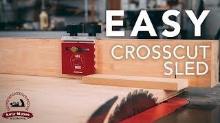 Super Accurate Simple Crosscut Sled