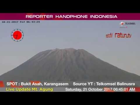 Bali Volcano : Mount Agung – Gunung Agung update real time. 21102017 - II