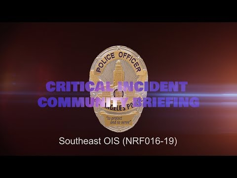 Southeast Area Officer Involved Shooting 4/22/19 (NRF016-19)