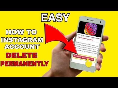 How to Delete Instagram Account Permanently 2020    DELETE INSTAGRAM ACCOUNT   