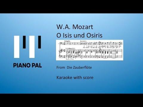 O Isis und Osiris Zauberflöte Mozart Karaoke Pianopal