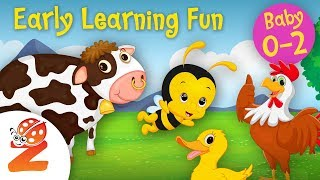 Early Learning Fun #9 | Animal Sounds 🐥🐷🐴🐵 Educational Series