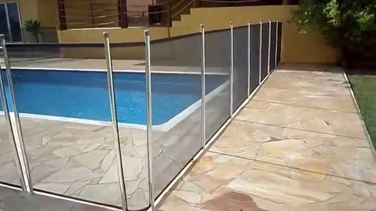Cerca para piscina remov vel youtube for Piscina 7 de agosto