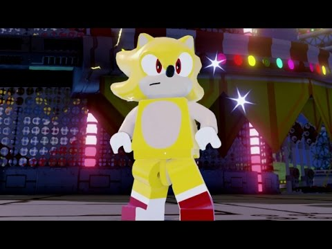 LEGO Dimensions - Super Sonic Free Roam Gameplay (Sonic the ...
