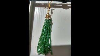 How to make waterfall tassel earrings /DIY /#latest trend of earrings