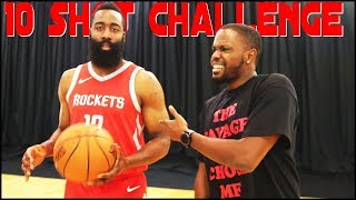 TALKING TRASH WITH JAMES HARDEN! - The 10 Shot Challenge ft. James Harden