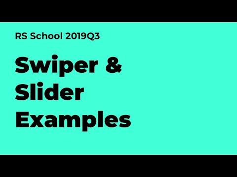 Webinar 17.10.2019 Swiper & Slider Examples (carousel Live Coding)
