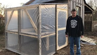 We built our greenhouse for under $300