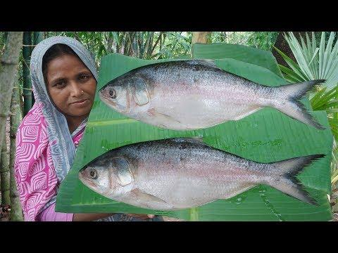 Village Food | 2.5 KG Ilish Polau Recipe | Bangla Giant Hilsa Fish Polau | Traditional Ilish Polao