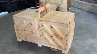 Amazing Design Ideas Woodworking Project Homemade From Pallet - Build A Smart And Versatile Tool Box