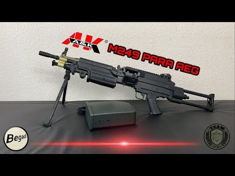 [REVIEW] A&K M249 PARA AEG LMG Airsoft Review Deutsch/german TEAM-030-AIRSOFT