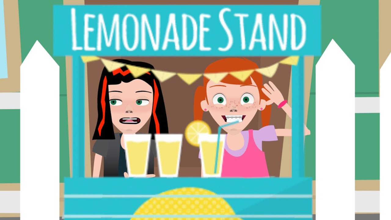 Lemonade stand britney and beatrice animated youtube for Animation stand