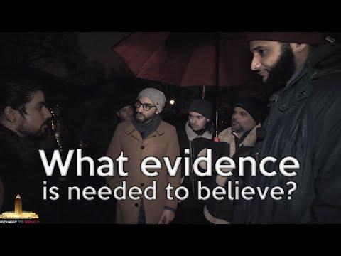 Speakers Corner | 21/01/18 | (full debate ) Hashim & Hijab What evidence is needed to believe?