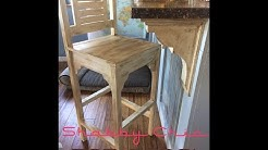 How to Make Vintage Shabby Chic Bar Stool, High Chairs | DIY