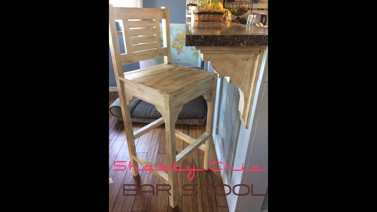 how to make vintage shabby chic bar stool high chairs diy youtube. Black Bedroom Furniture Sets. Home Design Ideas