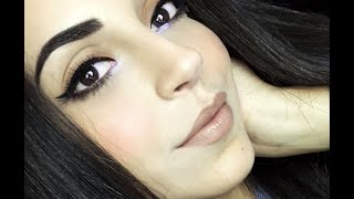 Everyday makeup with a touch of lavender + Amazing tricks for beginners ) TUTORIAL - مكياج لكل يوم