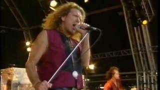 In The Evening. Page and Plant at  Glastonbury 95